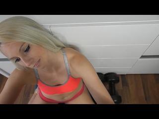 Lecken, Blond, Girl, Handjob, oral, Paar, Fotze, Rasiert, Schwanz, Sex