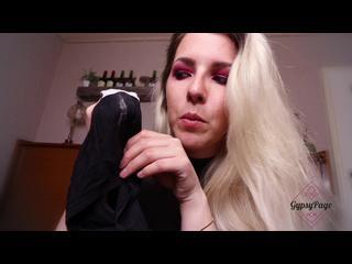 Blond, Lack, Langhaarig, Solo, Wichsanleitung, Leder., Slipveredelung