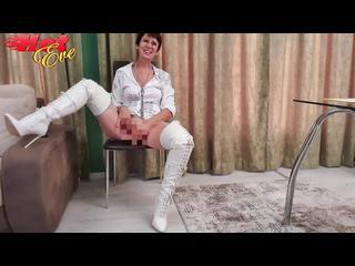 Dildo, Dirtytalk, Fussfetisch, High-Heels, Lack, Fotze, Overknees